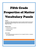 Properties of Matter Magic Triangle Vocabulary Puzzle