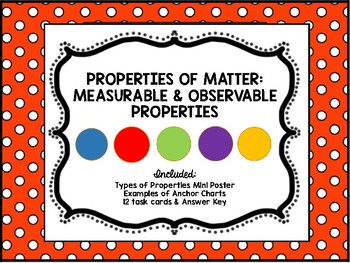 Properties of Matter: Measurable & Observable