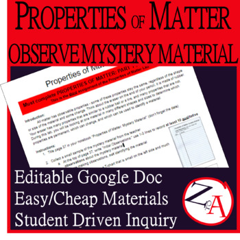 Properties of Matter: Observing a Mystery Material (PART 2)