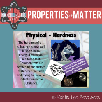 Properties of Matter PPT w/ Notes and Worksheet