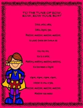 Properties of Matter- Piggy Back Song Kindergarten-2nd Grade