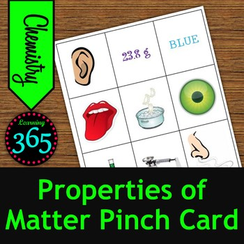 Properties of Matter Pinch Card