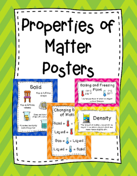 Properties of Matter Posters