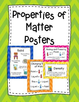 Properties of Matter Posters