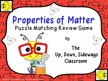 Properties of Matter Puzzle Matching Review Game