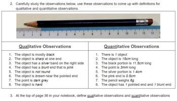 Properties of Matter: Qualitative & Quantitative Observation (PART 1)