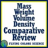 Properties of Matter Quick Review: Mass, Weight, Volume, Density Worksheet