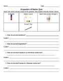 Properties of Matter Quiz