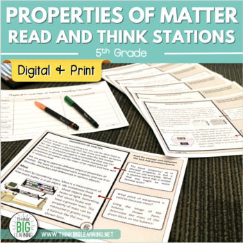 Properties of Matter Read-and-Think Stations