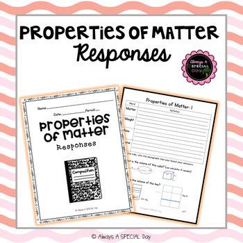 Properties of Matter: Comprehension Responses