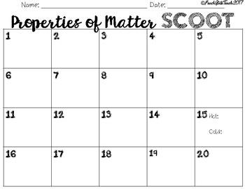 Properties of Matter SCOOT