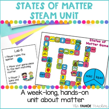 States of Matter STEAM Unit | Science Centers for Primary Grades