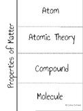 Properties of Matter Science INB Vocabulary