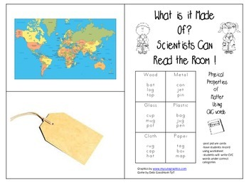 Properties of Matter-Scientist Read the Room-What is it Made of? CVC Words