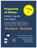 First Grade Science Properties of Matter Solids Liquids Gases Student Book