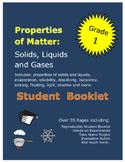 First Grade Science Properties of Matter Solids Liquids Ga