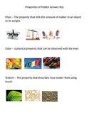 Properties of Matter Sort and Task Cards