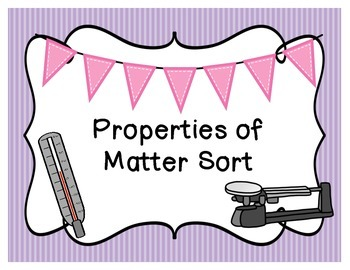 Properties of Matter Sort