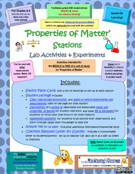 Properties of Matter Stations - Explorations & Experiments
