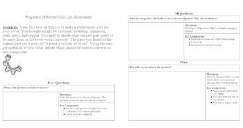 EDITABLE - Properties of Matter Summative Assessment (Lap portion)