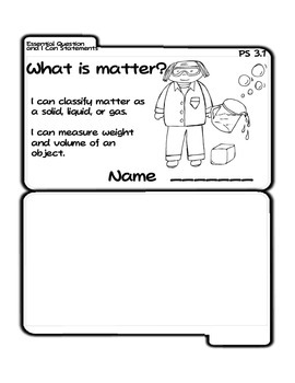 Properties of Matter Tab Booklet (Ohio PS 3.1)