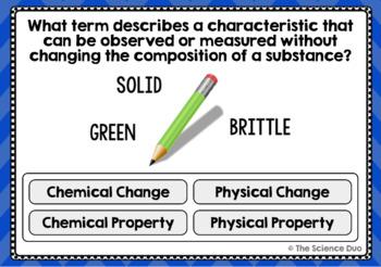 Properties of Matter Task Cards - Digital Boom Cards™