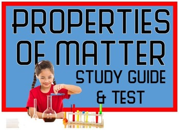 Properties of Matter Test with Review