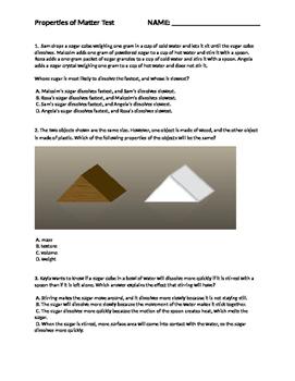 Properties of Matter Test