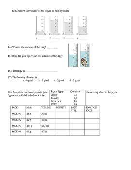 Properties of Matter Test, Quiz, Worksheet