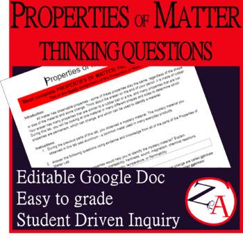 Properties of Matter: Thinking Questions (PART 3)