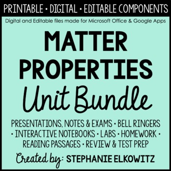 Properties of Matter Unit Bundle