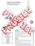 Properties of Matter Unit Crossword Puzzle