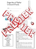 Properties of Matter Unit Crossword Puzzle