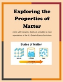 Properties of Matter - Unit and Interactive Notebook pages