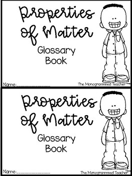 Properties of Matter Vocabulary Book