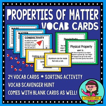 Properties of Matter Vocabulary & Task Card Set