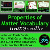 Properties of Matter Vocabulary Unit Bundle