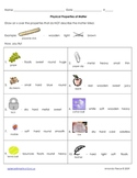 Properties of Matter Worksheet - Crossout