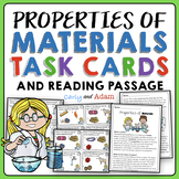 Properties of Matter and Materials Task Cards | Reading Passage | 2nd Grade NGSS
