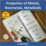 Properties of Metals, Nonmetals, Metalloids Foldable