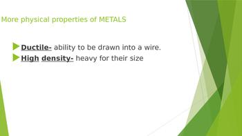 Properties of Metals and Non-metals