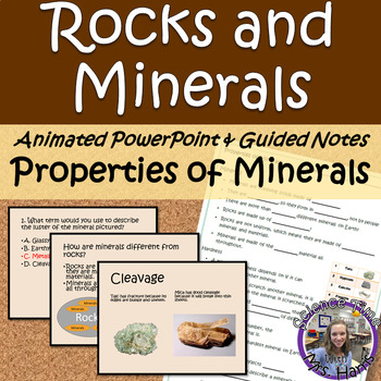 Properties of Minerals ANIMATED PowerPoint with Guided Notes