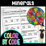 Properties of Minerals Color By Number | Science Color By Number