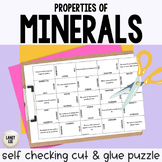 Properties of Minerals - Cut and Glue Puzzle