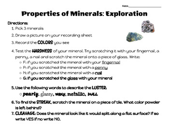 Properties Of Minerals Foldable Teaching Resources Teachers Pay