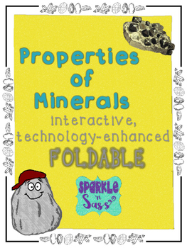 Properties of Minerals Foldable Interactive with QR Codes