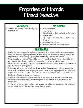 Properties of Minerals - Mineral Detective