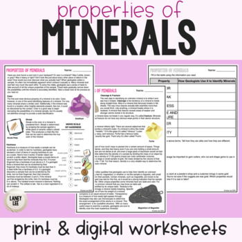 Properties of Minerals Notes
