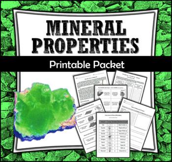 Properties of Minerals Printable Packet