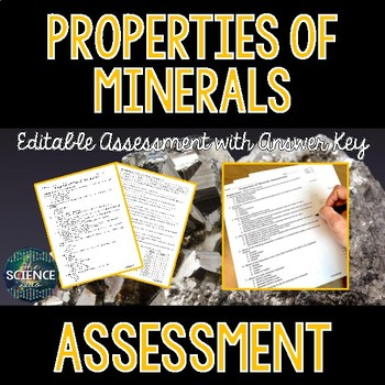Properties of Minerals Science Assessment - Distance Learning Compatible